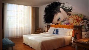 LORD BALFOUR HOTEL- 64 ROOMS DISPLAY MY ART IN 30 FOOT WALL MURALS